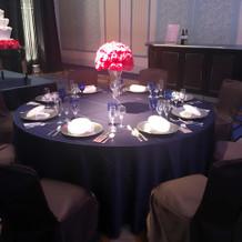 テーブルクロスも同系色で良かったです♪