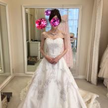 試着したレンタルのウェディングドレス