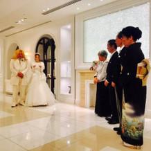 花嫁からの手紙の朗読