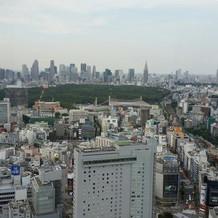 ホテルからの景色。