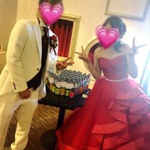 カラードレスも可愛かったです