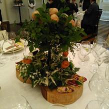 テーブルの花が食べられる演出にビックリ!