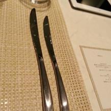 ナイフが細くてオシャレでしたが、重かった
