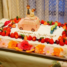 可愛いウェディングケーキでした。