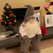 サンタさんが飾ってありました