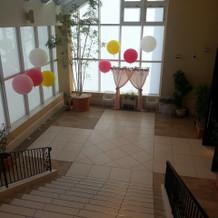 セレモニールーム階段からの眺め