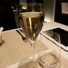 シャンパンを頂きました