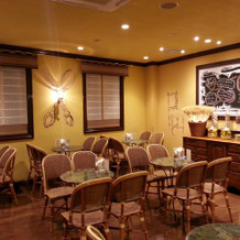 エントランスにあるカフェ