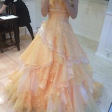 とても可愛いドレスでした