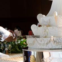 今時珍しいウエディングケーキ。