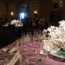 会場の雰囲気とテーブルコーディネート