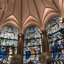 大聖堂のステンドグラス。