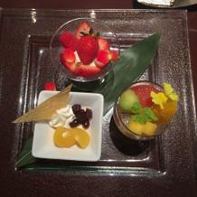 デザートプレート(試食用)