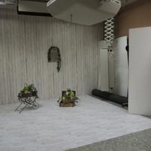 スタジオ(床は芝にもできるとのこと)