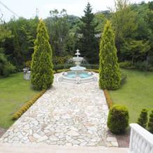 ル・トリアノン中庭