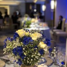 ブルーの花が素敵でした。