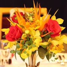 ゲストのテーブル用装花