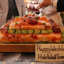 びっくり寿司ケーキ