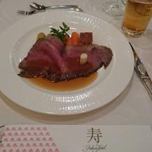 パレスホテル伝統のローストビーフ