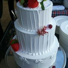 ゲストの前で落としたフェイクケーキ
