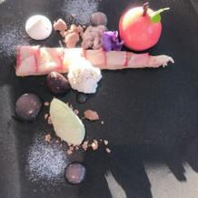 りんごメインのデザートでした