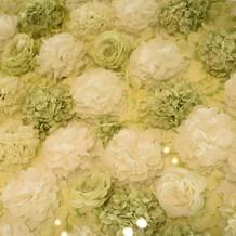 バージンロードのお花