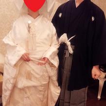 白無垢&紋付袴で挙式