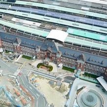 会場から眺め - 東京駅