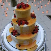ネイキッドケース&カラードリップケーキ