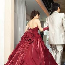 お色直しのドレスです。