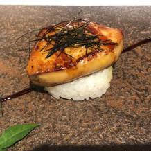 フォアグラ寿司 絶品です。