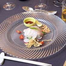 真鯛の刺身中華風レモン風味