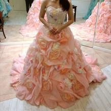 お花いっぱいピンクのドレス