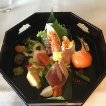 和テイストの前菜でした。