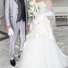 白ドレスも種類が豊富でした。