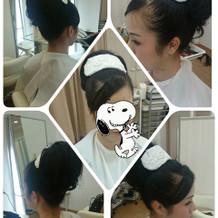 WDのヘアメイク