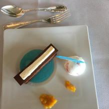 デザートのチョコレートケーキです