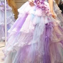 パープルのドレス 実物は少し派手