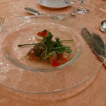 お魚を使ったサラダ