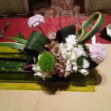 淀川邸テーブル装花