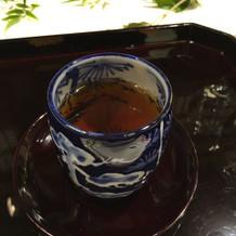 〆のほうじ茶