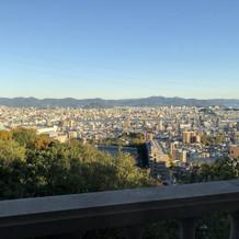 高台にあるので、景色が最高です。