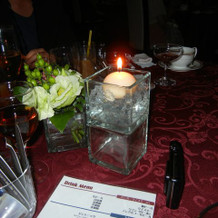 テーブルのキャンドル