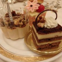 ブュッフェのケーキです。