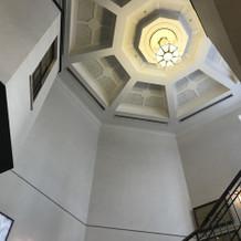 らせん階段天井