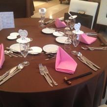 当日のテーブル