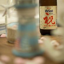 ビールはオリオンビール