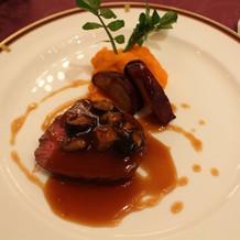 牛フィレ肉は柔らかくて美味しかったです