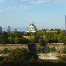 窓からの大阪城