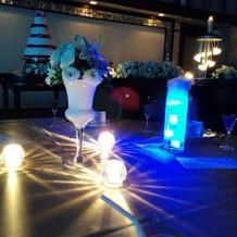 テーブルの光の演出